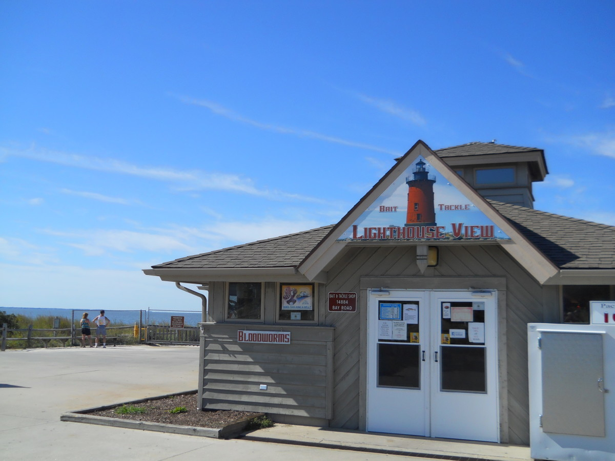 Lighthouse View Bait & Tackle shop at Cape Henlopen Fishing Pier.