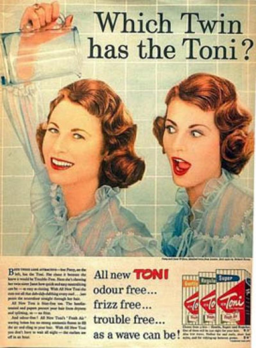 Vintage Ad for Toni Home Perms