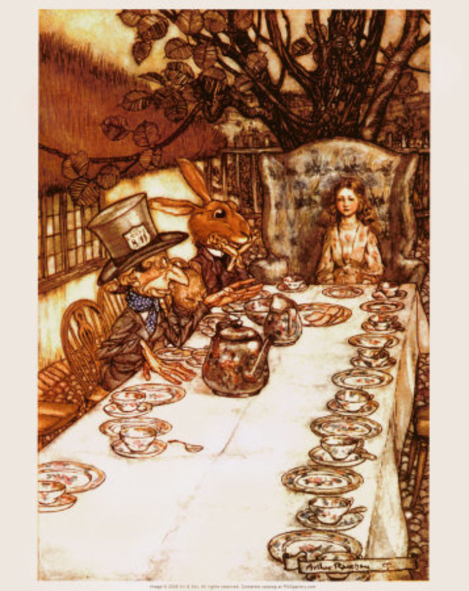 Mad Hatters Tea Party by rthur Rackham