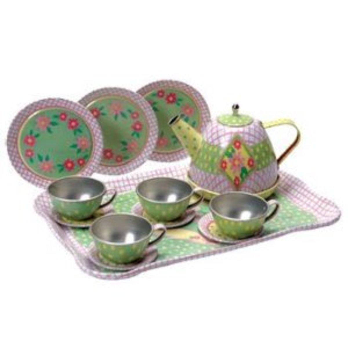 Childrens Tin Tea Set