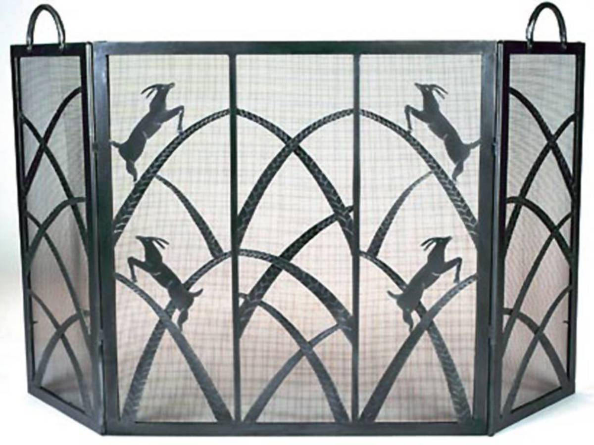 Frank Lloyd Wright Design Style Fireplace Screen