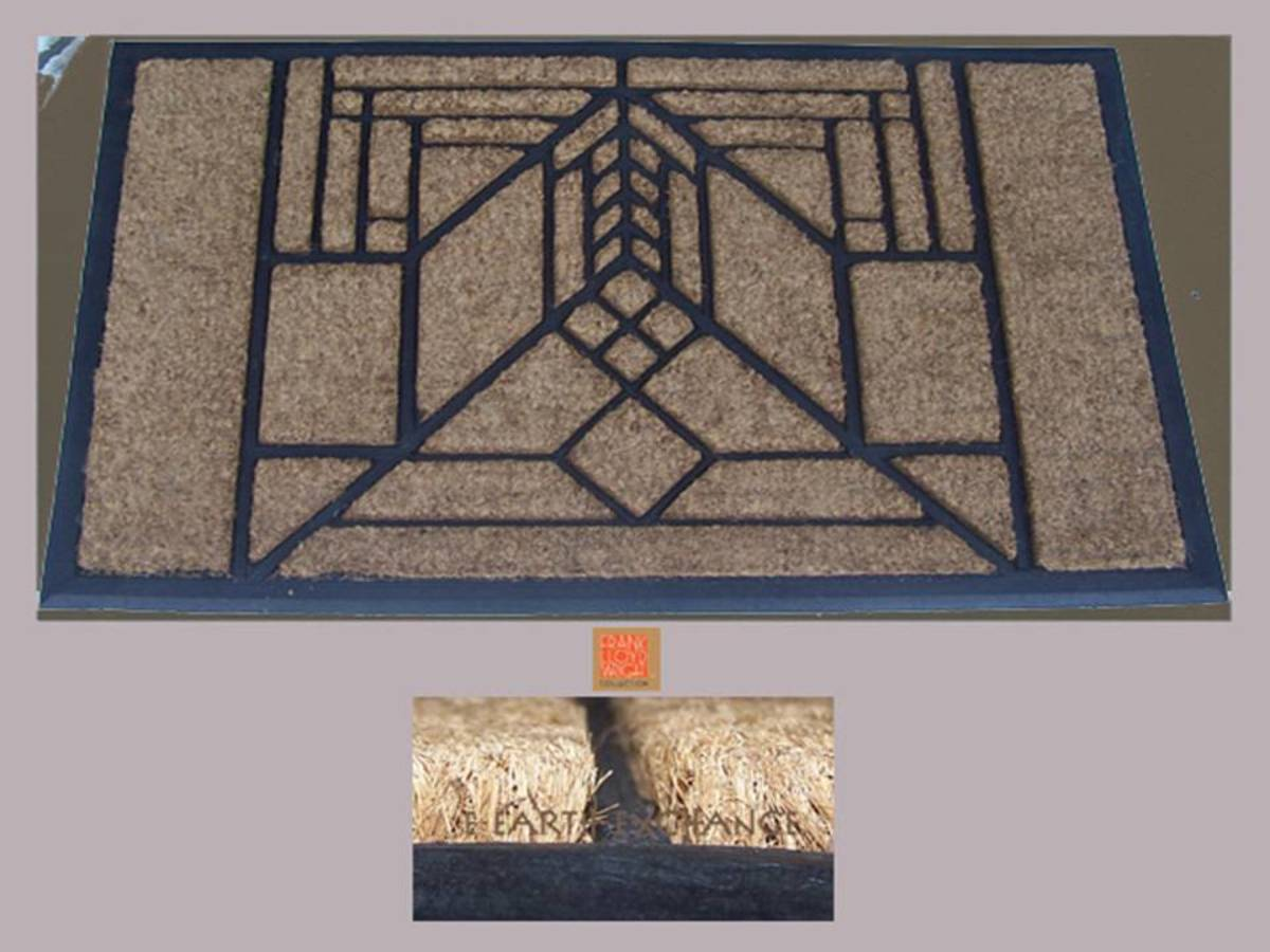 Frank Lloyd Wright inspired door mat by earth exchange