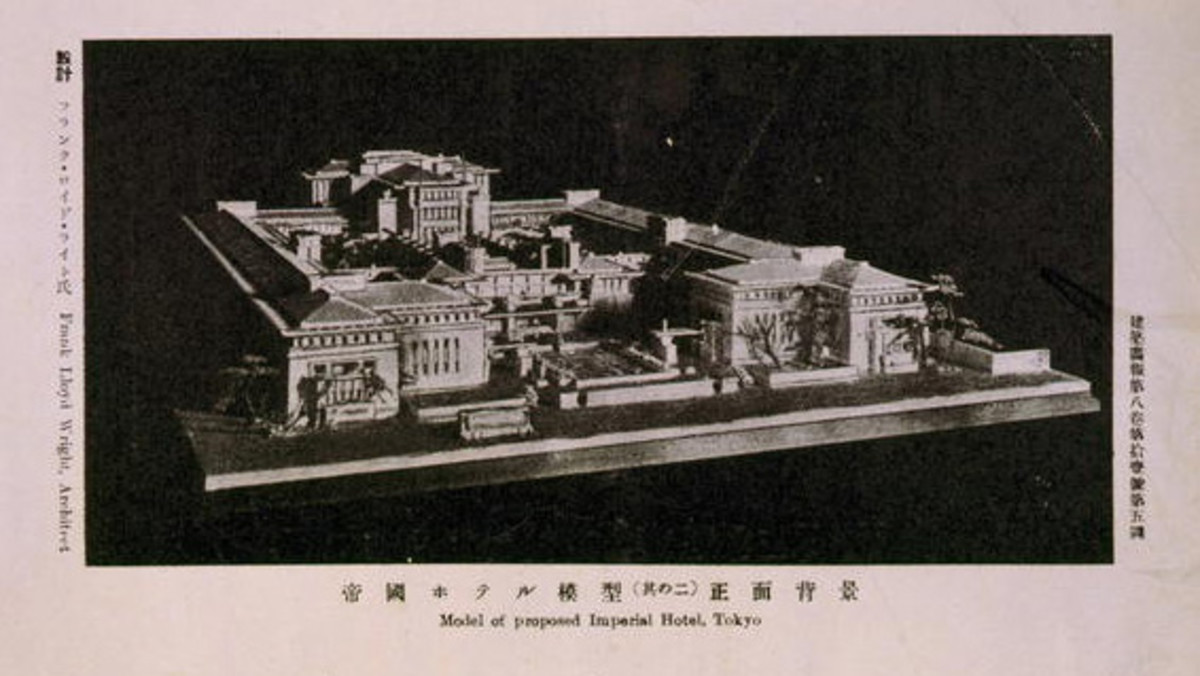 Frank Lloyd Wright Architectural Masterpiece Japan - The Imperial Hotel
