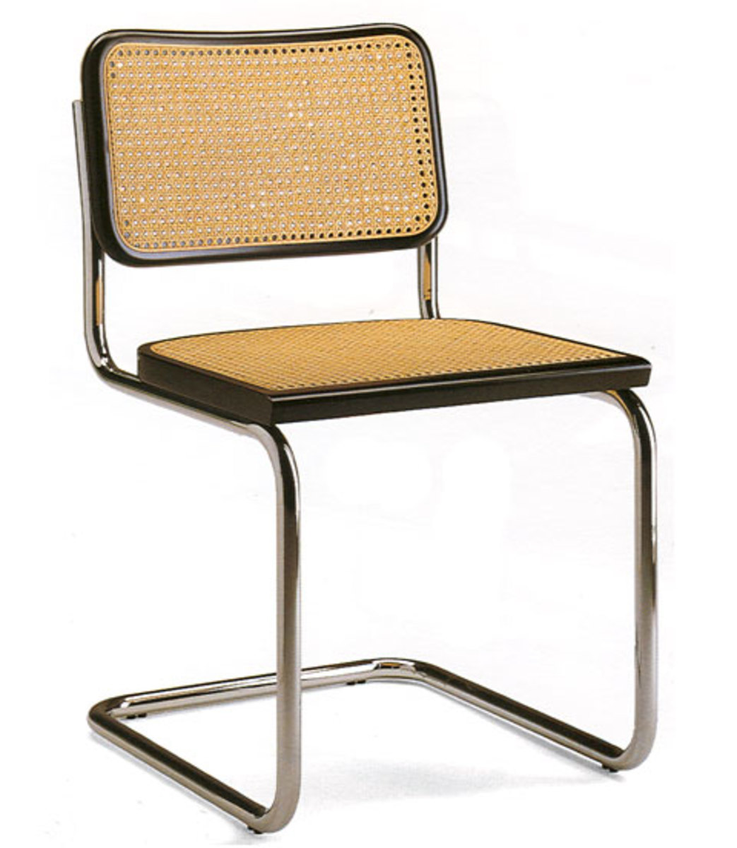 Marcel Breuer Cane Chair & Tubular Steel
