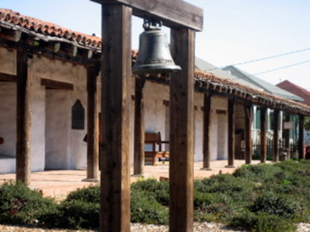 Mission Soloano bell and standing campanarios.