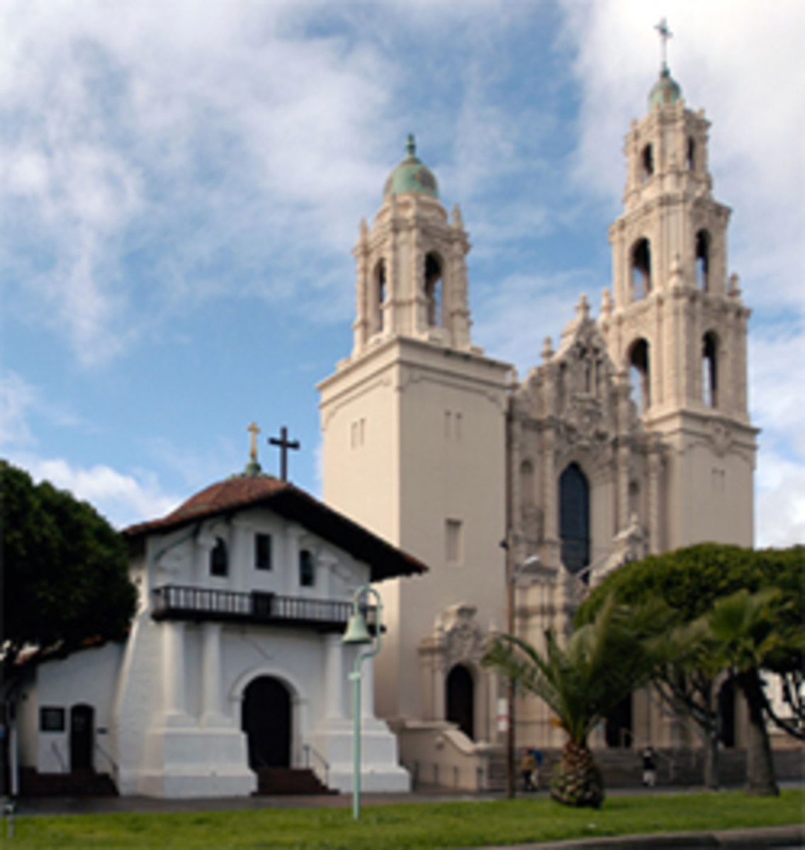 The Dolores chapel and church in San Francisco.