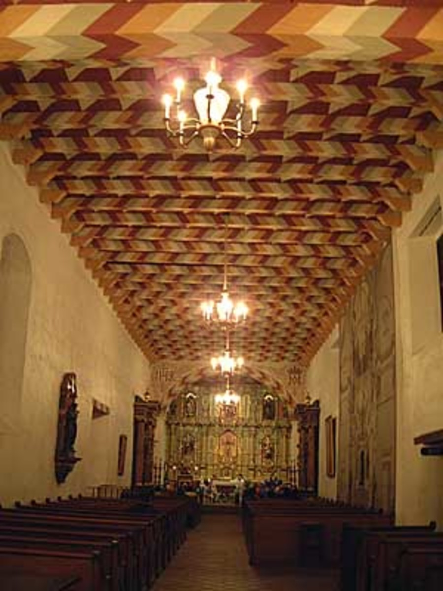 The sanctuary at Mission Dolores chapel.