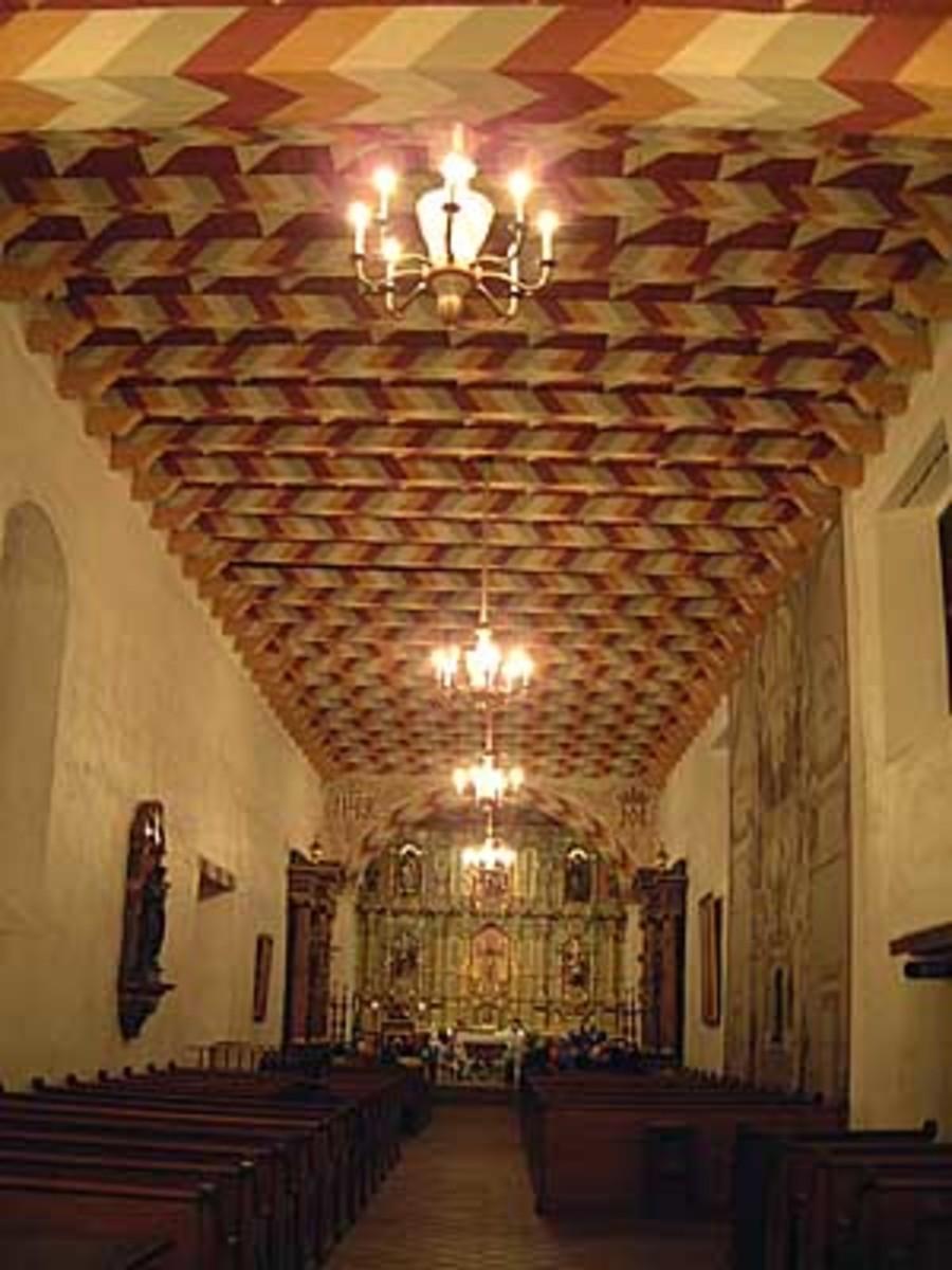 The sanctuary at Mission Dolores chapel.