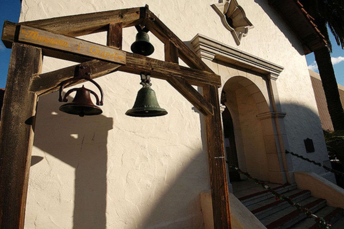 A closer look at the bells of the chapel.