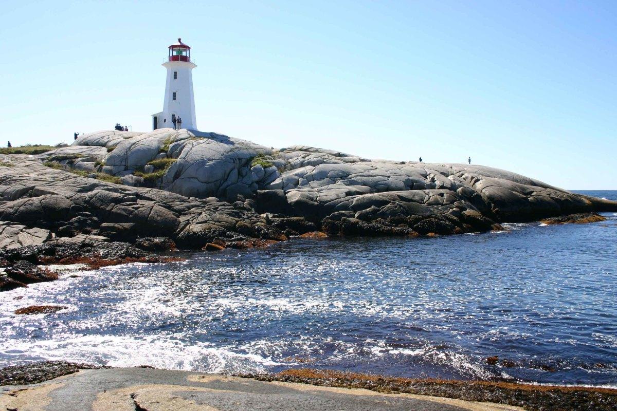 Peggy's Cove lighthouse in Nova Scotia Canada