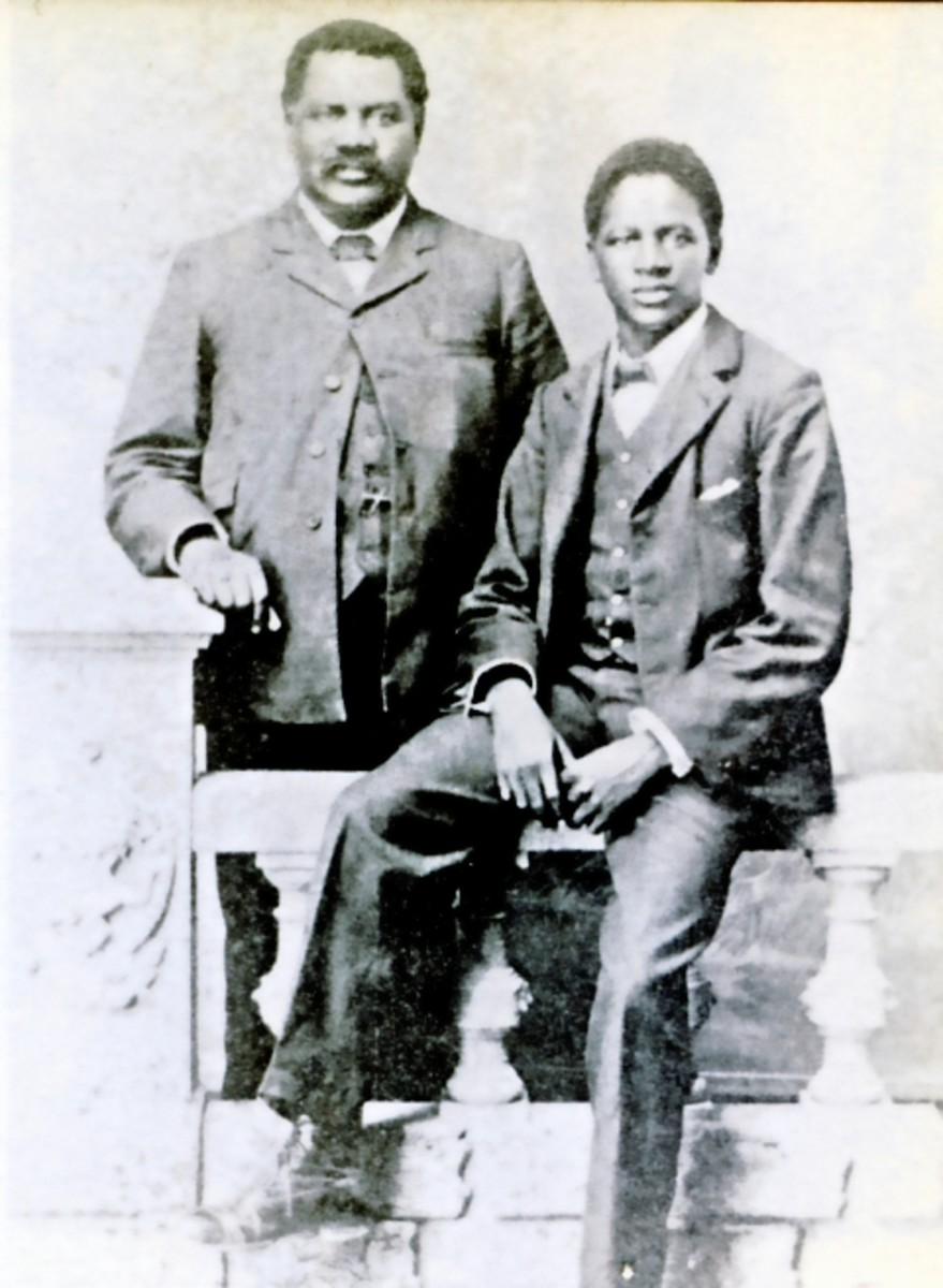 John Tengo Jabavu with his son.
