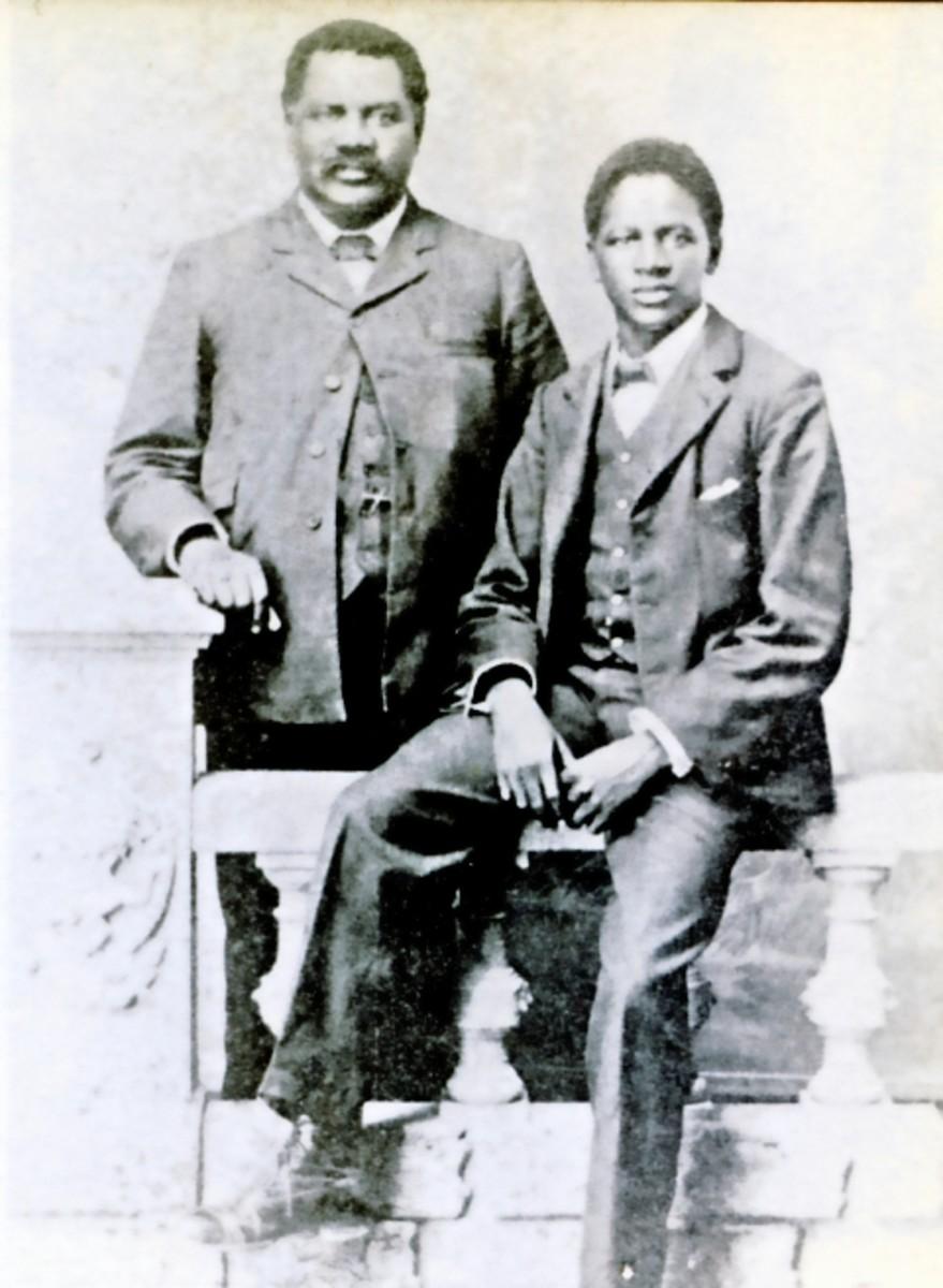 John Tengo Jabavu with his son.