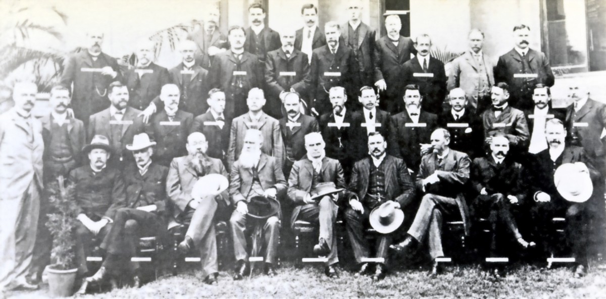 Official photograph of the National Convention in Durban, Natal, 1908