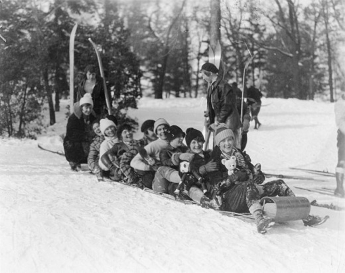 Tobogganing at University of Wisconsin - Madison -1929