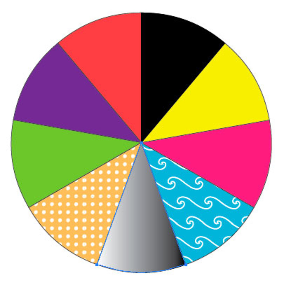 Coloured Pie Chart