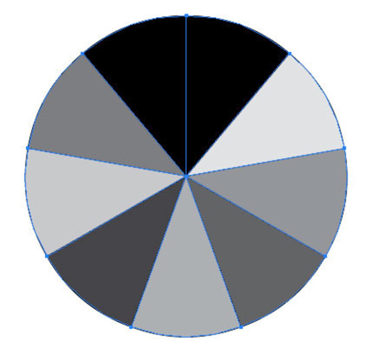 7 Equal Part Circle