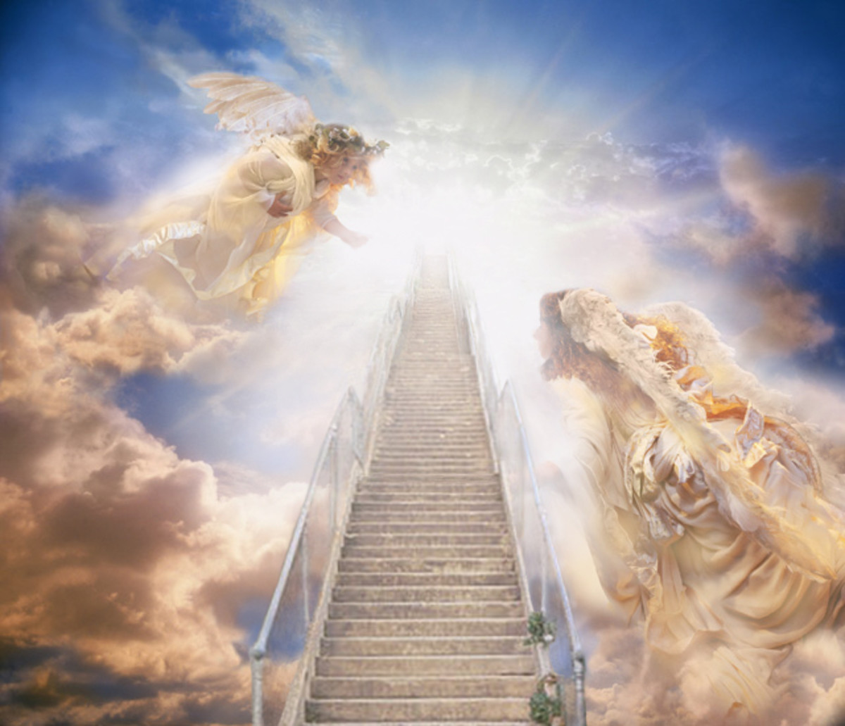 In the Book of Genisis, Jacob has a dream in which he saw a stairway leading to Heaven.  Is this just a story?  Some claim to have seen a beautiful stairway leading to the light.