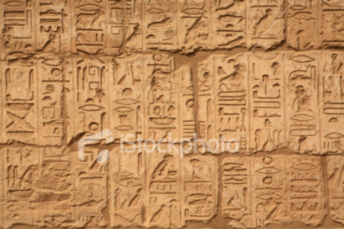 photo Egyptian hieroglyphics