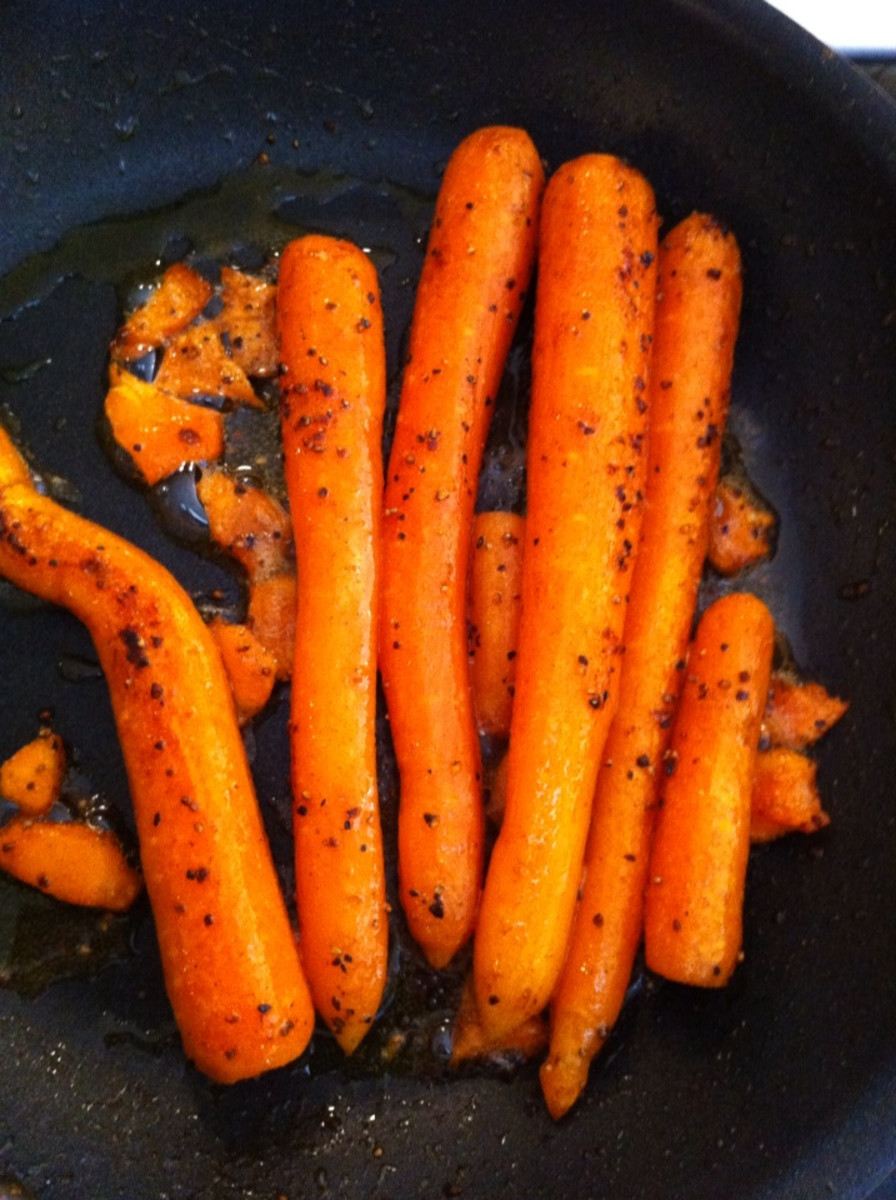 Pan Fried Brown Sugar Glazed Carrots