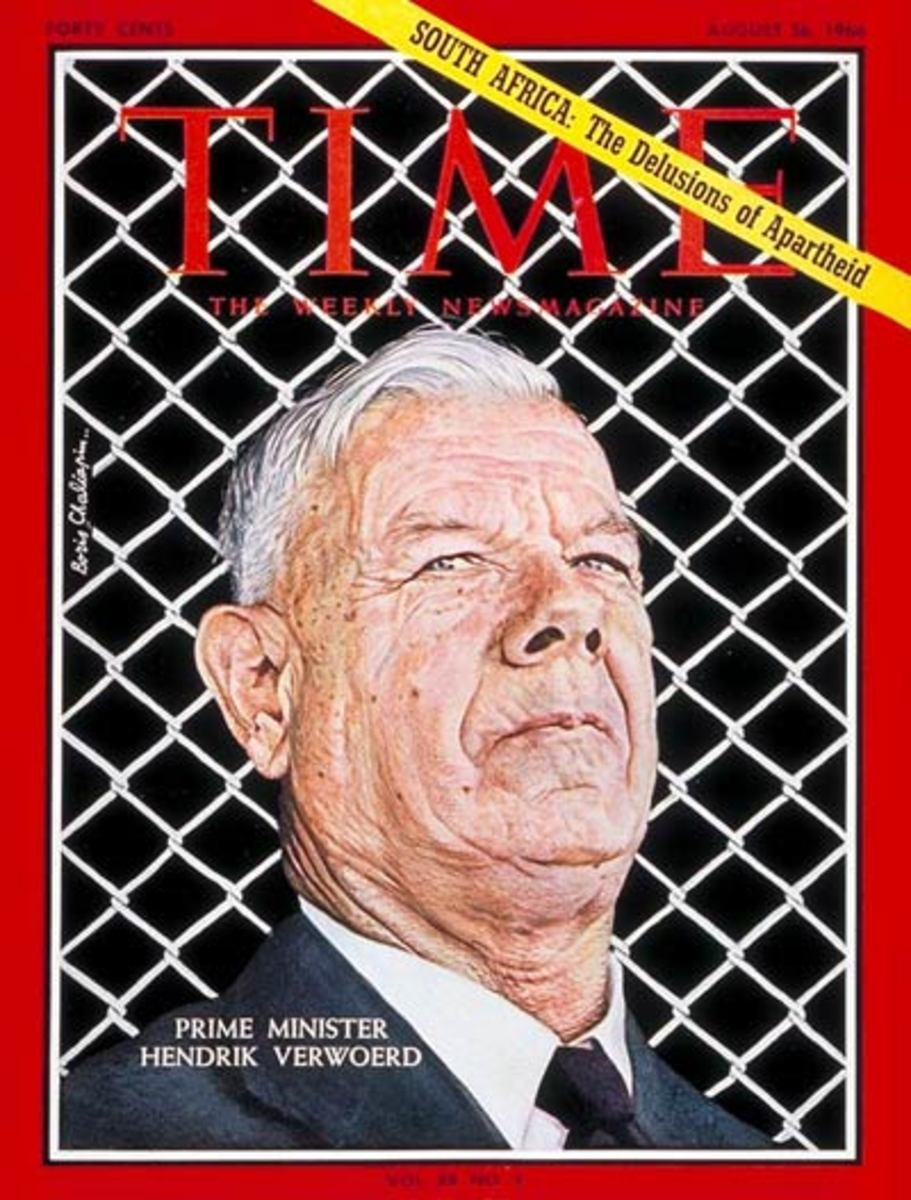 Prime Minister Hendrik Verwoerd on the cover of Time Magazine 26 August 1966
