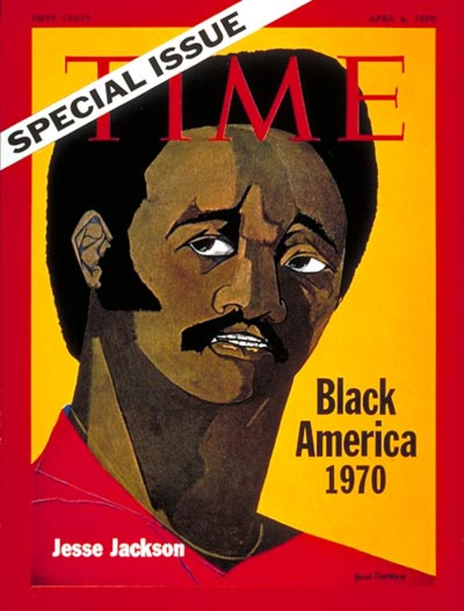 Jesse Jackson on the cover of Time Magazine 6 pril 1970
