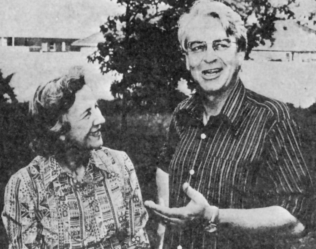 "Donald Woods with another great South African, Helen Suzman. From ""Looking for Trouble"""