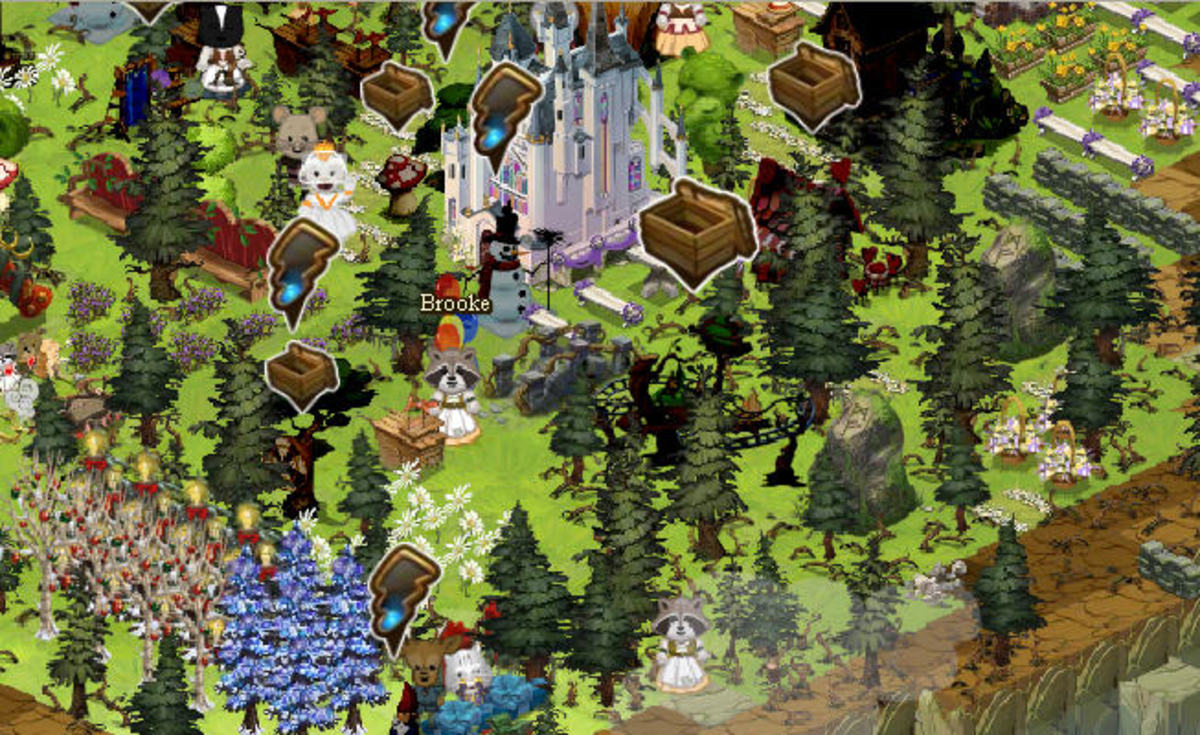 """Leaving your Ravenwood Fair forest """"overgrown"""" either will give you a bunch of resources when you chop the Scary Trees down, or just look all a clutter =)"""