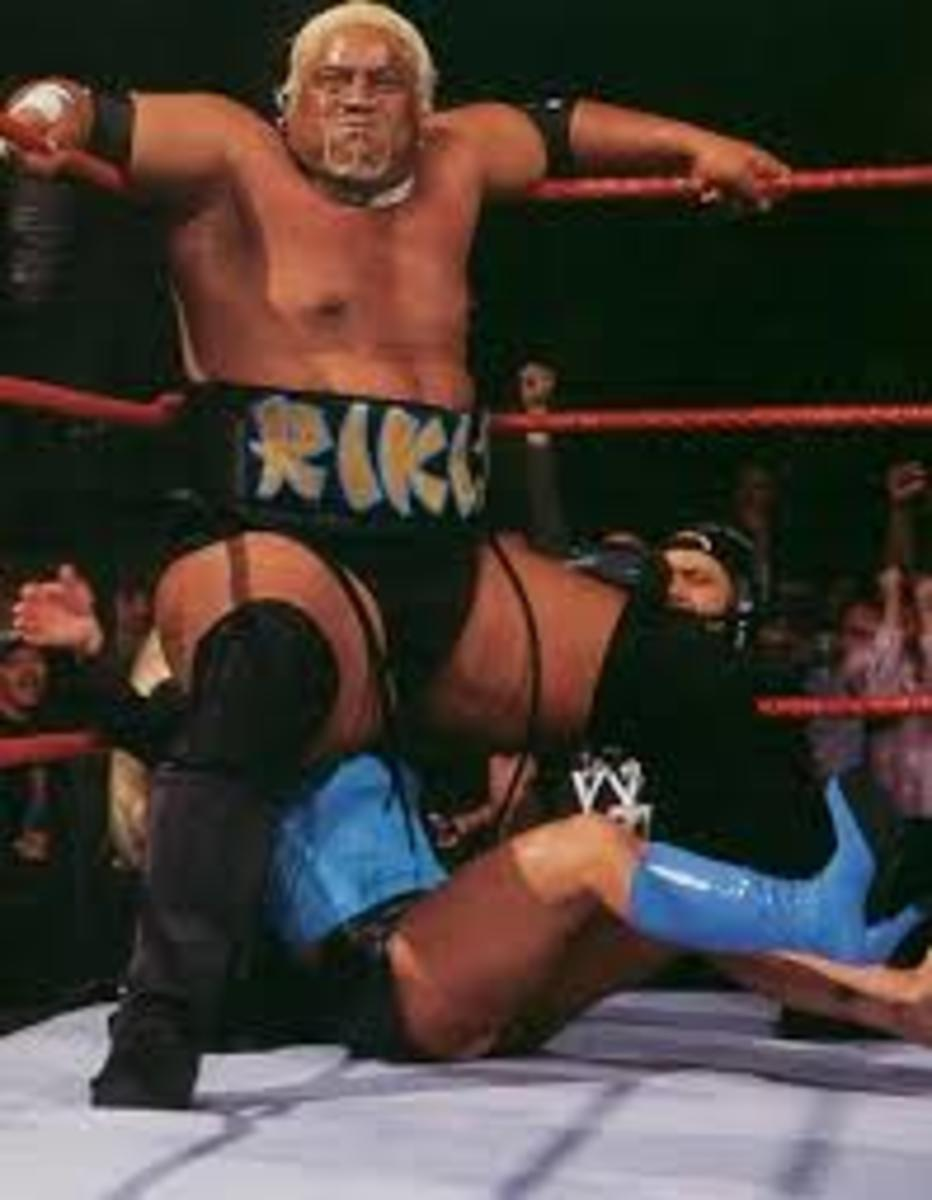 Rikishi executes the stink face like a confused frat boy trying to daterape a poor passerby with their butt!