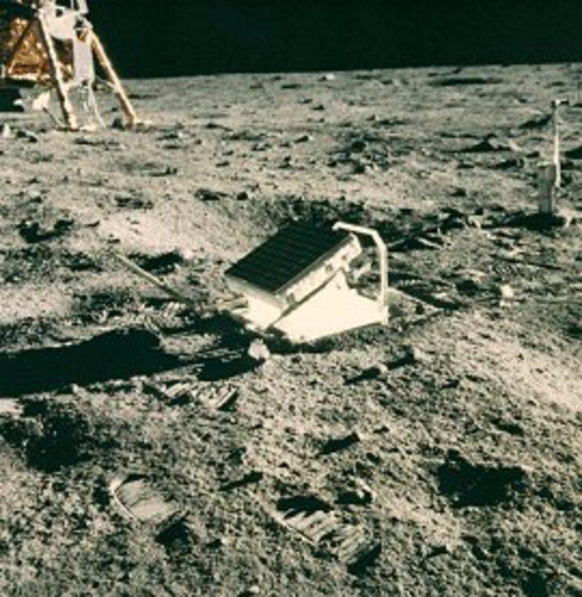 Mirrors on the moon. Lunar laser ranging retroreflector array.