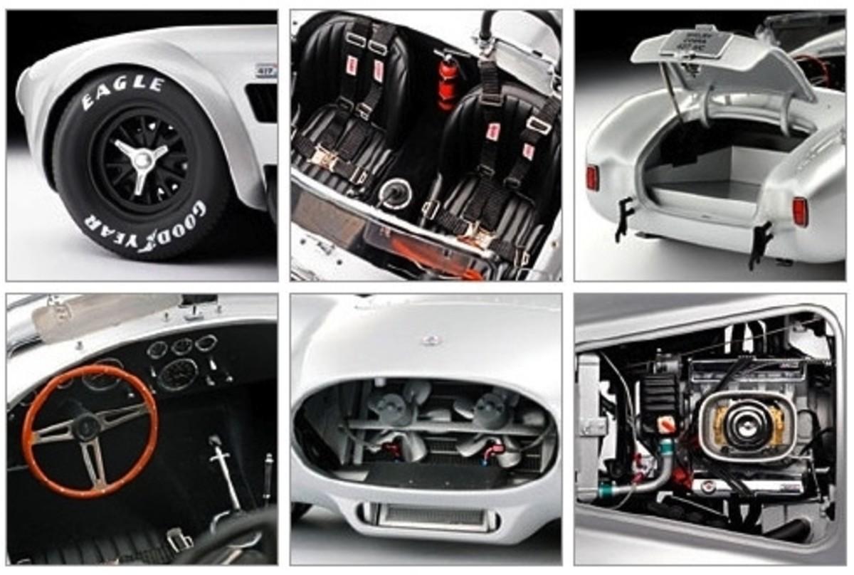 Shelby Cobra 427 S/C Silver Diecast by Kyosho