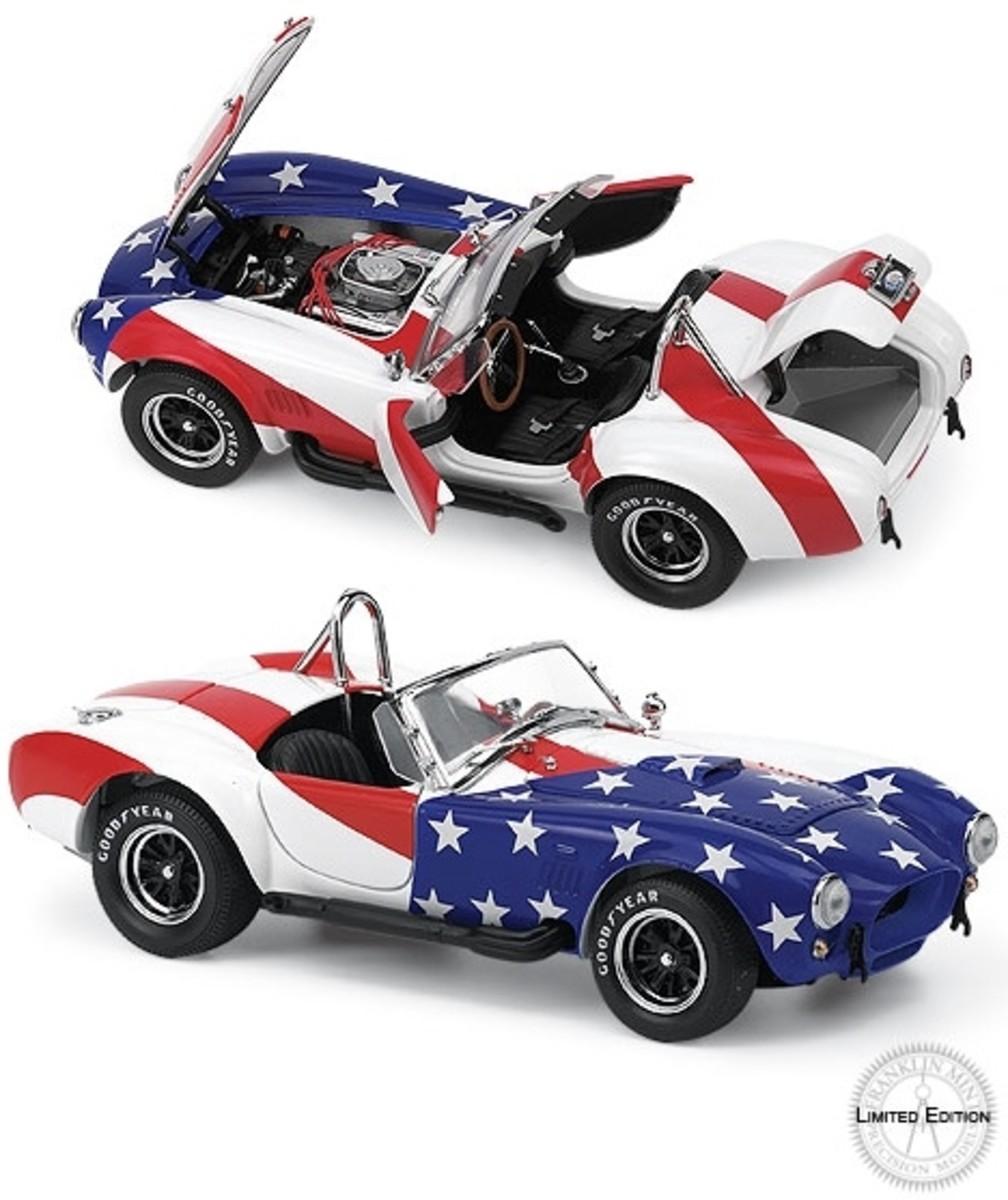 1966 Shelby Cobra 427 S/C Stars and Stripes Diecast by Franklin Mint B11E691