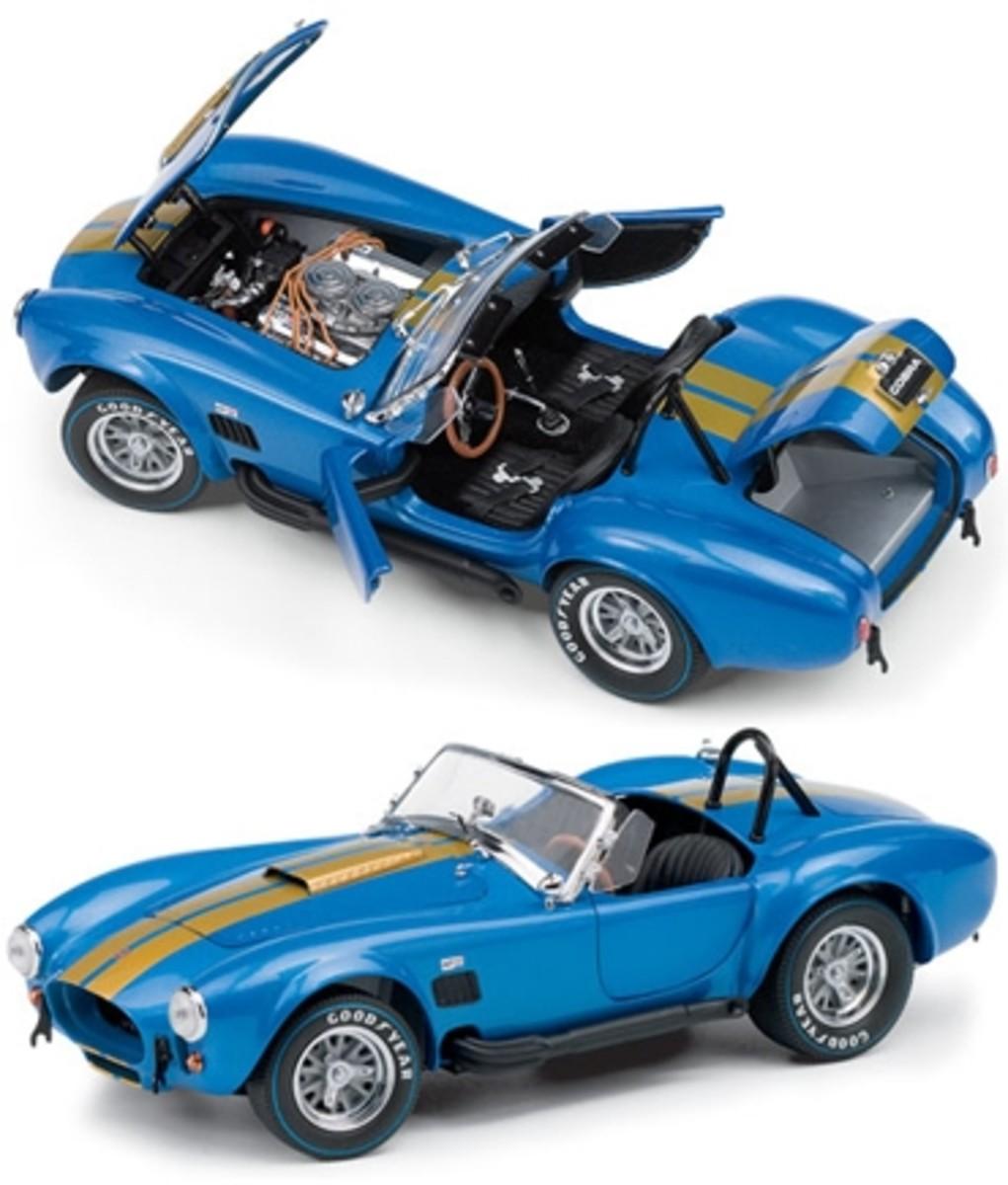 1966 Shelby Cobra 427 S/C Blue Diecast by Franklin Mint