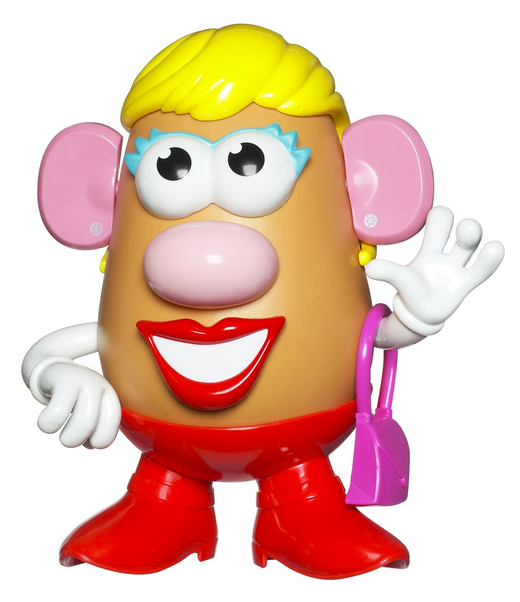 the new slimmed down Mrs Potato head