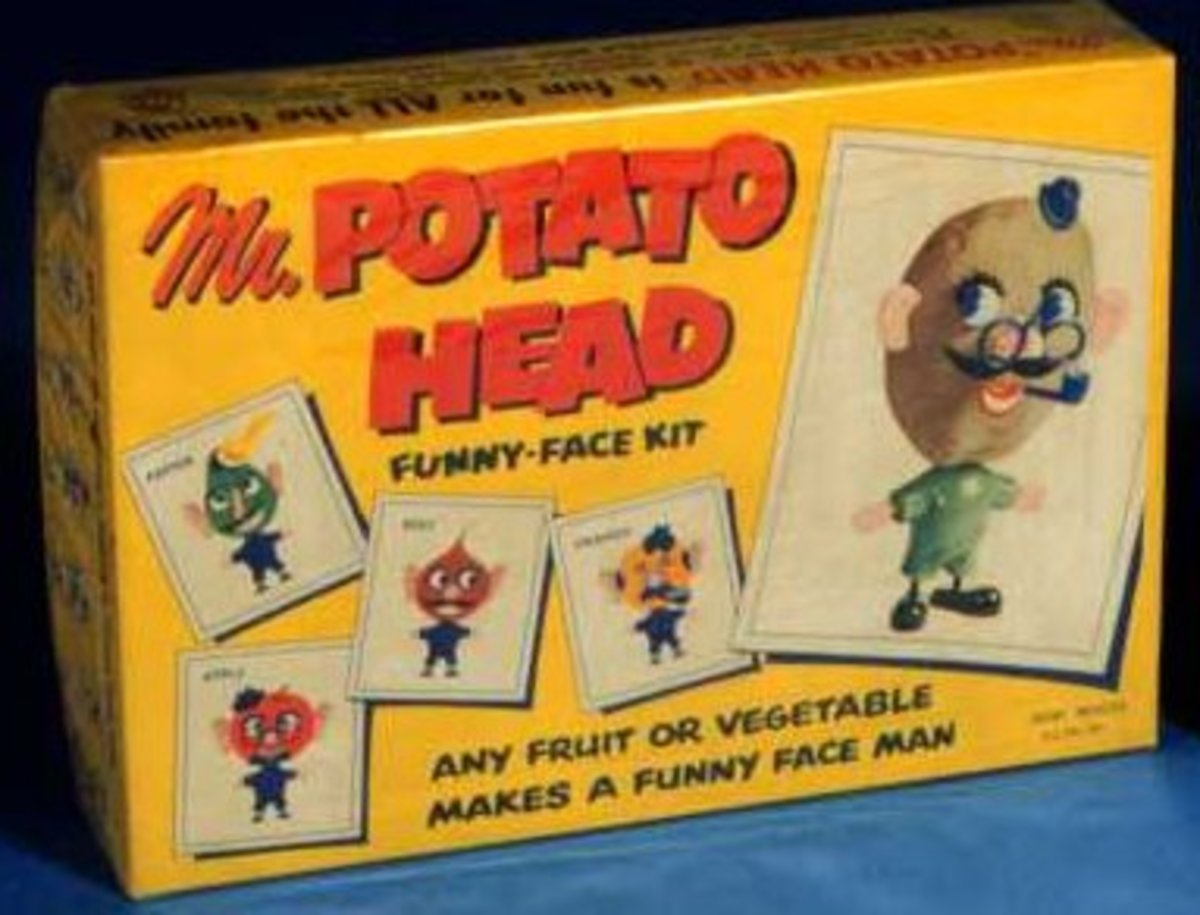 The original Mr. Potato head package