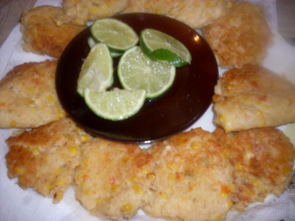 Tuna fish fritters