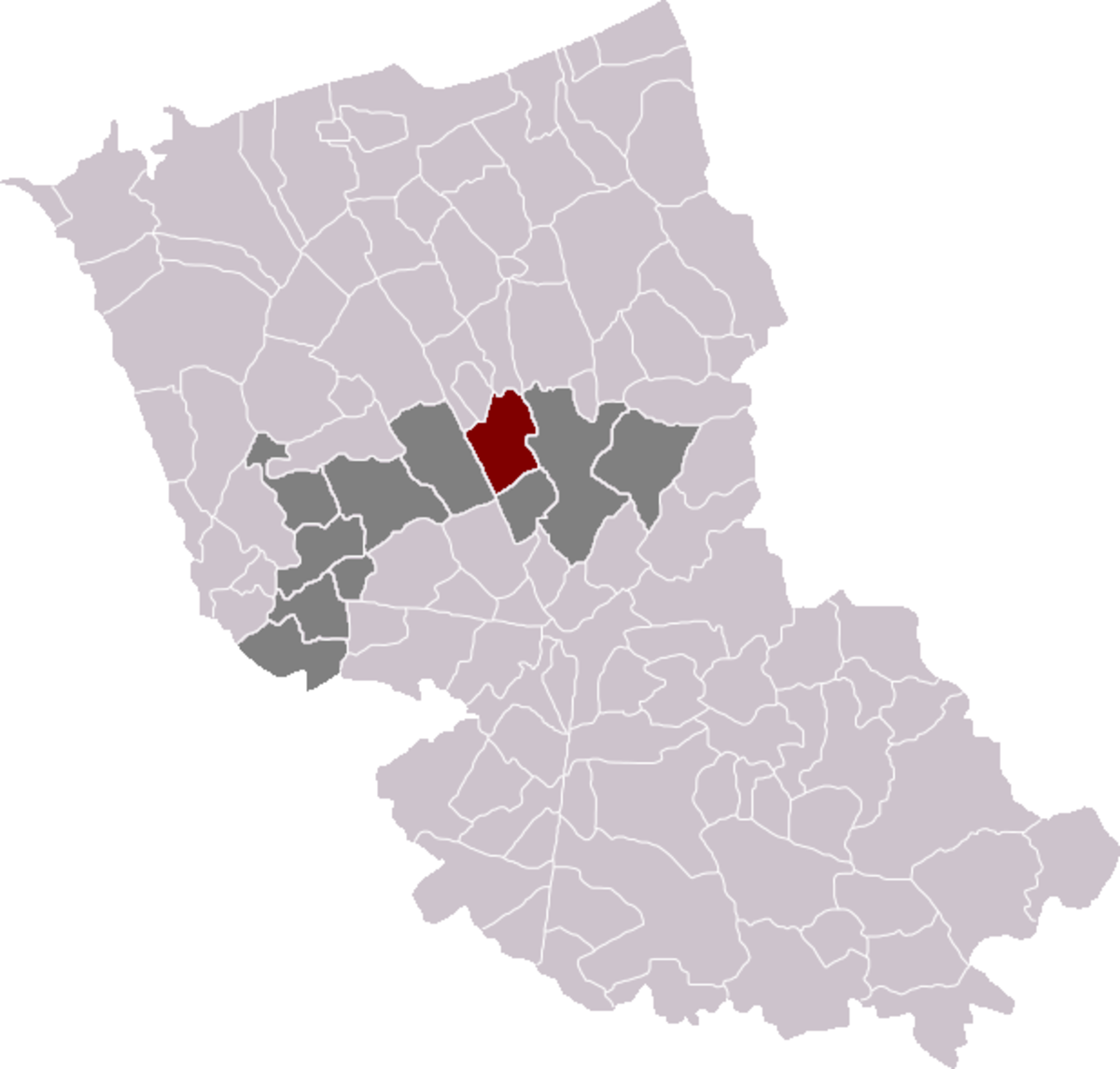Map location of Esquelbecq