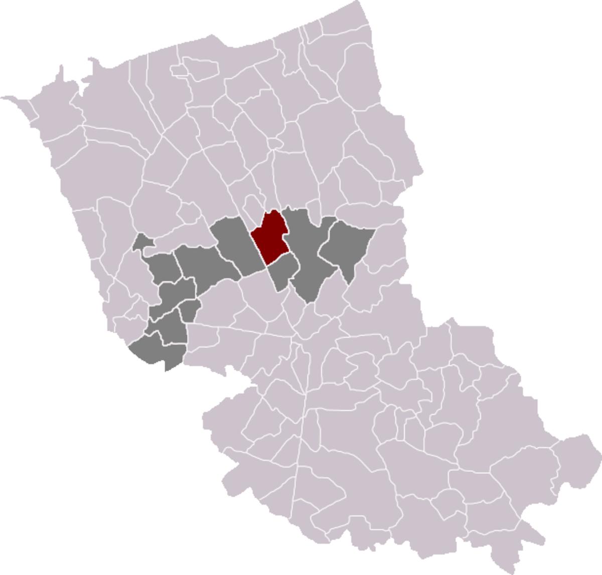 Map location of Esquelbecq