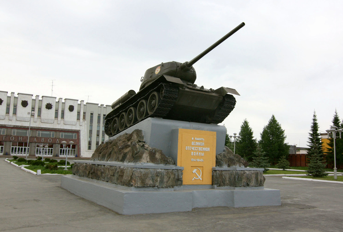 T-34 Battle Memorial in Russia