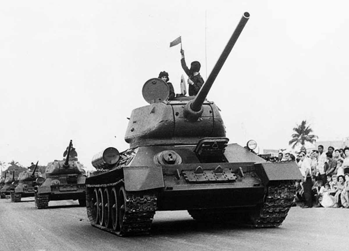 T-34 in Battle Exercise showing the public