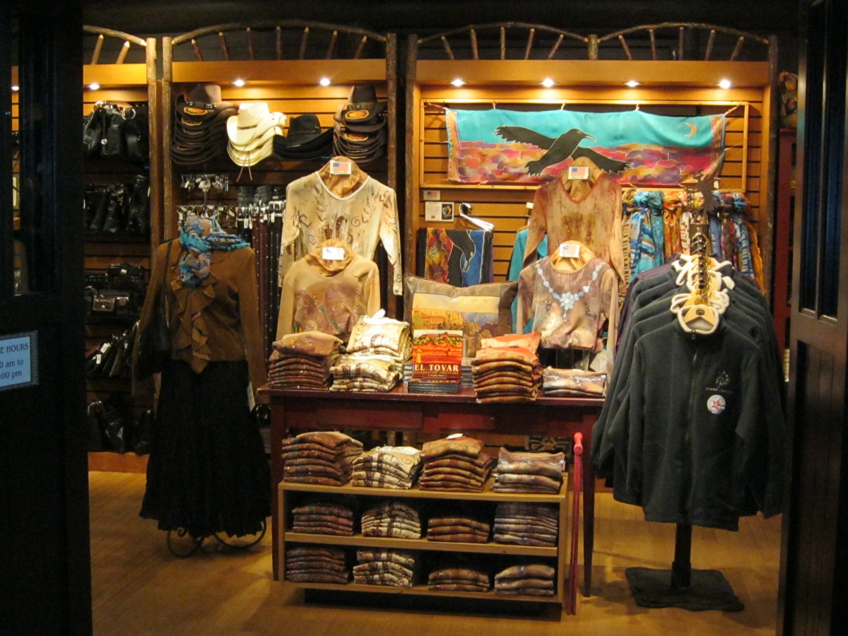The El Tovar gift shop carries first class clothing, purses and jewlery by Brighton, books on the Grand Canyon and more.