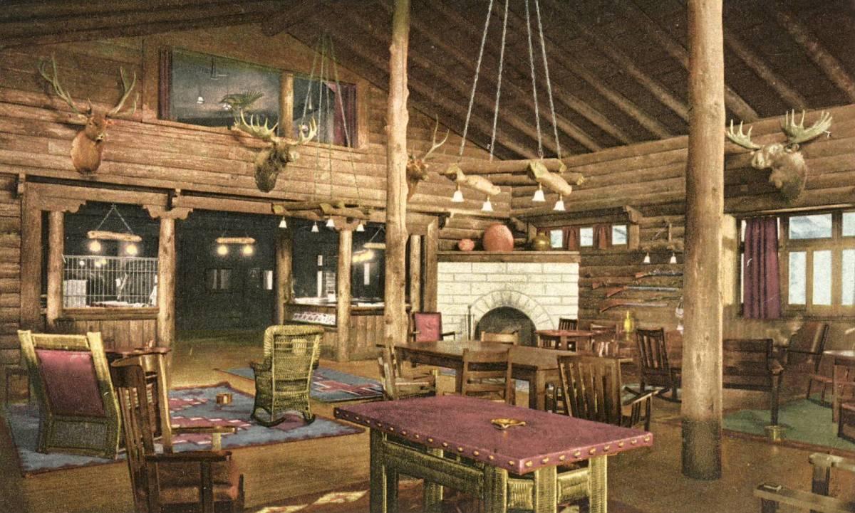 El Tovar Hotel Grand Canyon, Rondevous Room Circa 1920