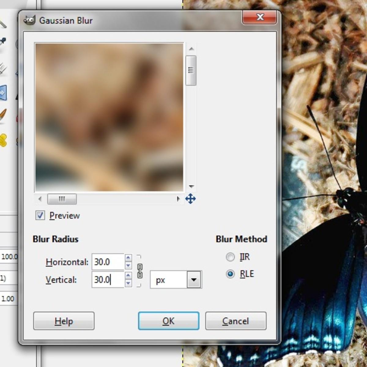 Set the Blur Radius and Method