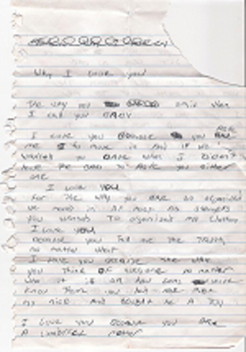 My treasured love letter