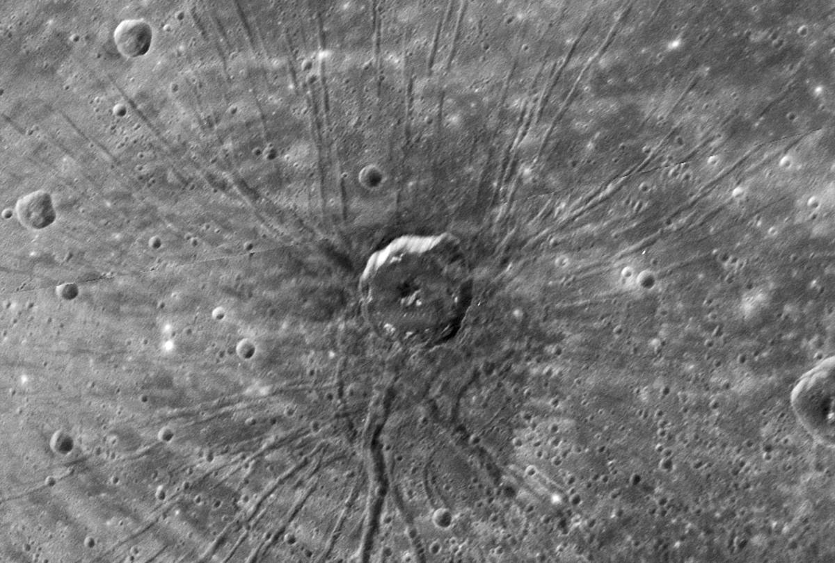 The 'Spider' - a Pattern of Long Ridges and Troughs within the Caloris Basin