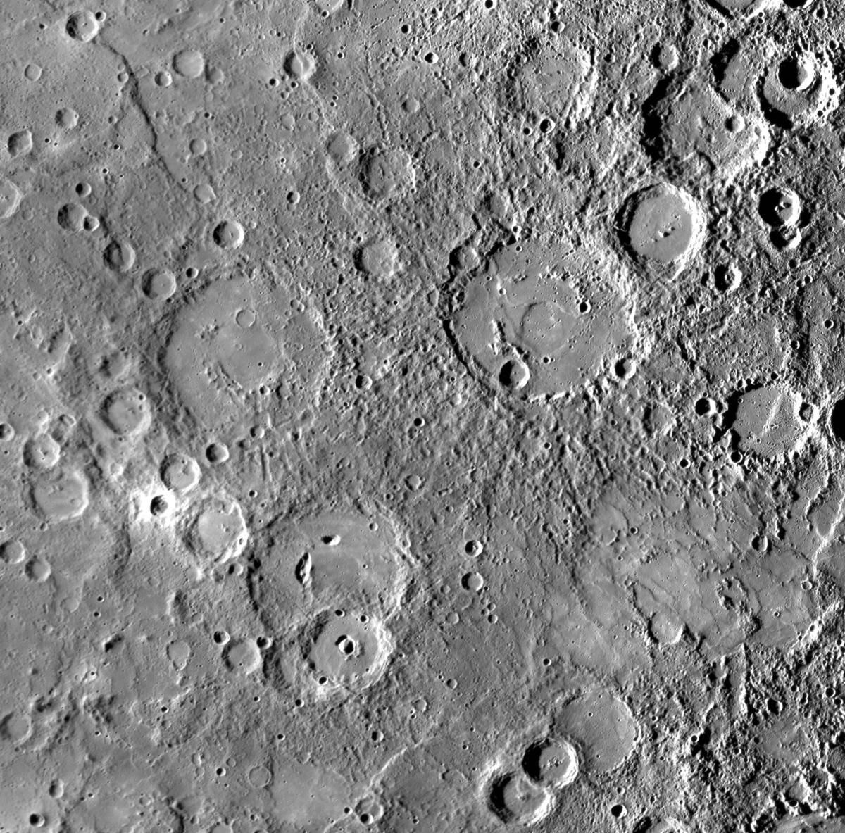 Craters on Mercury including Kipling and Steichen, named in March 2010