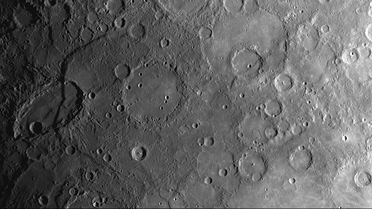 Cratered Landscape on Mercury