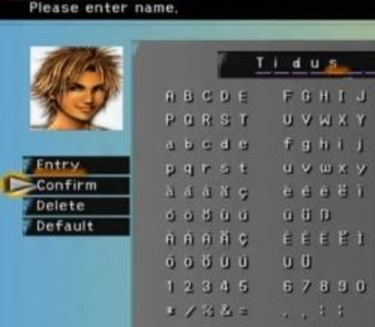 Final Fantasy Character Names