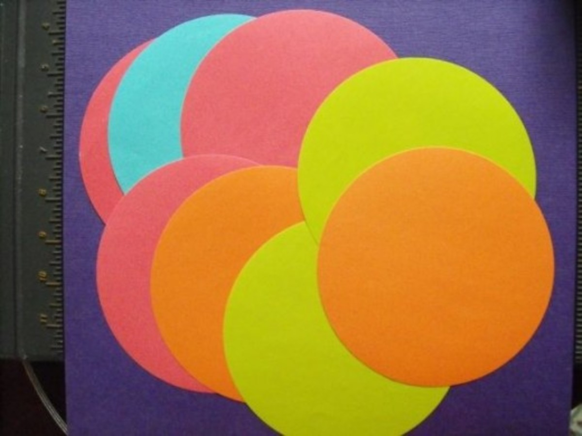 One rosette will need eight circles. More about the paper circles in another section.