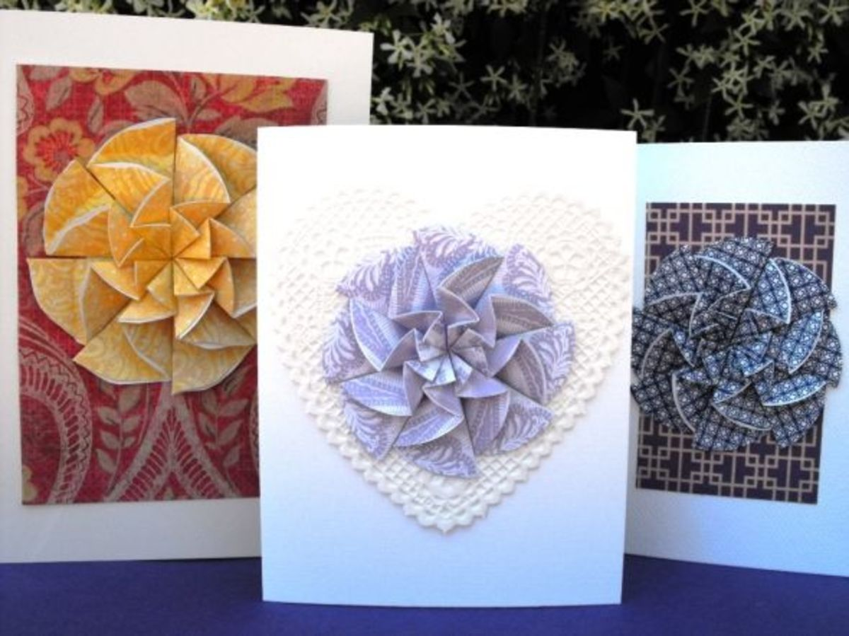 Accent in a Hundred Ways. This paper flower is ideal for cards because it will flatten down for the envelope.