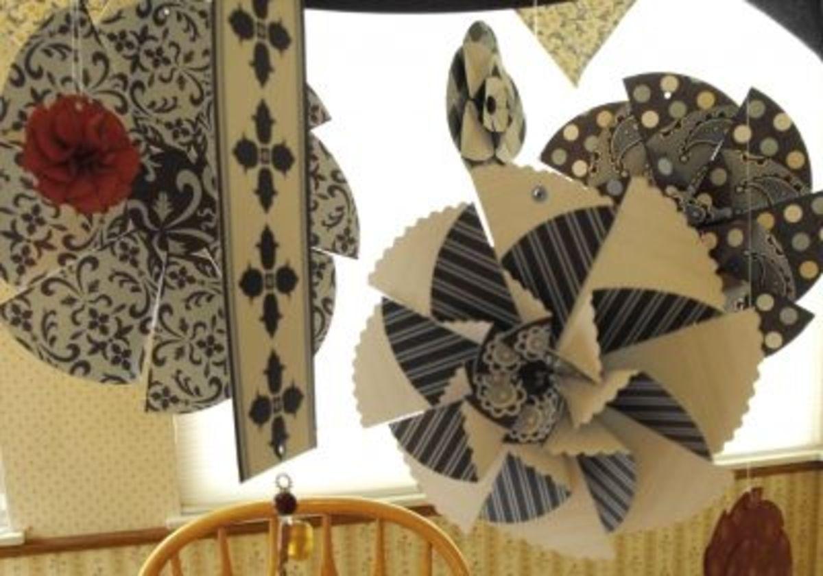 Paper Flower Rosette Mobile